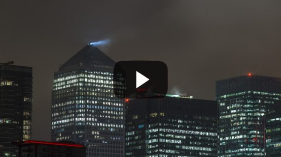 Canary Wharf London time lapse