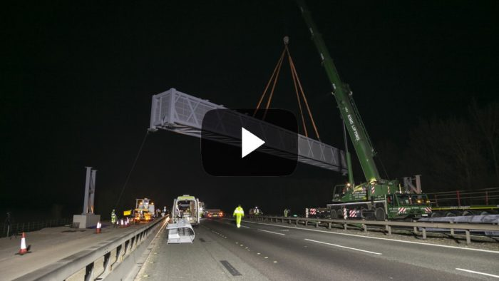 motorway gantry installation